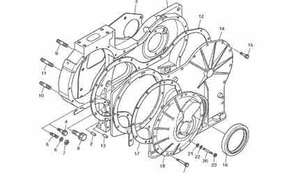 Поршень дизельного двигателя Doosan P158LE-P180LE-P222LE