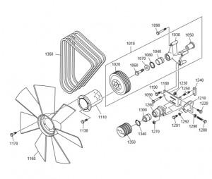 Вентилятор системы ЖО дизельного двигателя Doosan P158LE-P180LE-P222LE