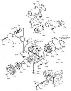 Шланги и насос системы ЖО дизельного двигателя Doosan P158LE-P180LE-P222LE