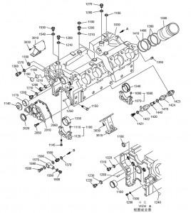 Блок цилиндров дизельного двигателя Doosan P158LE-P180LE-P222LE