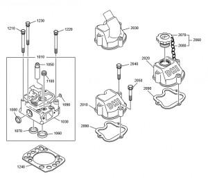 Головка блока дизельного двигателя Doosan P158LE-P180LE-P222LE