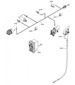 Электрическая система дизельный двигатель Doosan P086TI