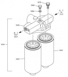 Топливный фильтр дизельного двигателя Doosan P158LE-P180LE-P222LE