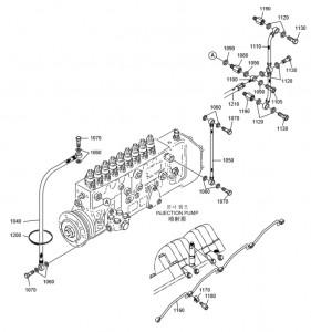 Топливные шланги дизельного двигателя Doosan P180LE-P222LE