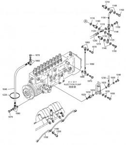 Топливные шланги дизельного двигателя Doosan P158LE