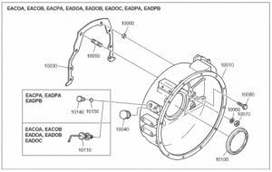 Маховик дизельного двигателя Doosan P086TI
