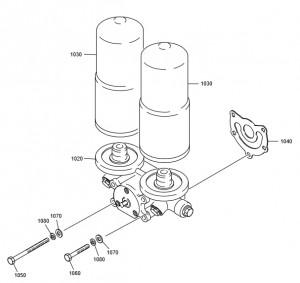 Масляный фильтр дизельного двигателя Doosan P158LE-P180LE-P222LE