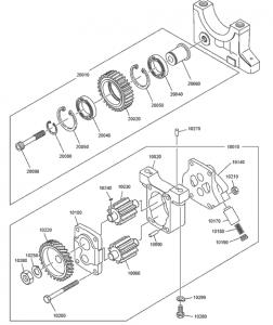 Масляный насос дизельного двигателя DoosanP086TI