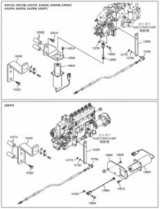 Топливный соленоид дизельного двигателя Doosan P086TI