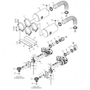 Воздушный фильтр газового двигателя GV158TI