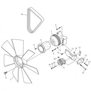 Вентилятор системы охлаждения газового двигателя GV158TI
