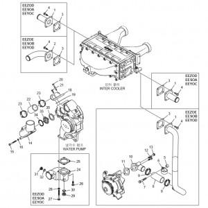 Шланги системы охлаждения газового двигателя GV158TI