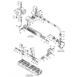 Шланги системы охлаждения газового двигателя GE12TI