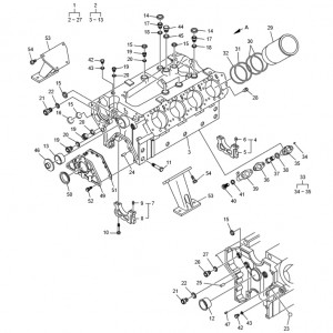 Блок цилиндров газового двигателя GV158TI