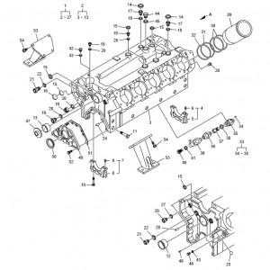 Блок цилиндров газового двигателя GV180TI