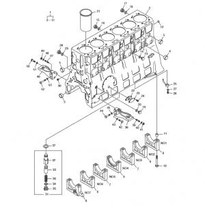 Блок цилиндров газового двигателя GE12TI