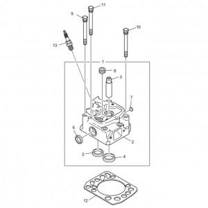 Головка блока цилиндров газового двигателя GV180TI