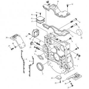 Кожух маховика газового двигателя GV180TI