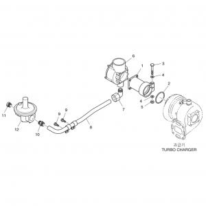 Топливная система газового двигателя GE12TI