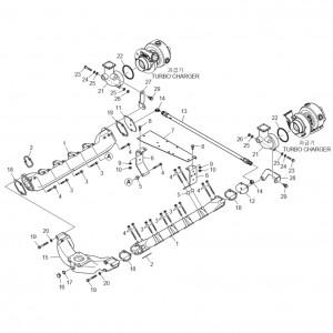 Впускной коллектор газового двигателя GV222TI