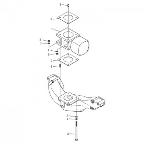 Система впуска газового двигателя GV180TI
