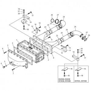 Интеркуллер газового двигателя GV158TI