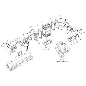 Интеркуллер газового двигателя GE12TI