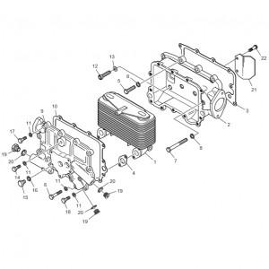 Масляный радиатор газового двигателя GV180TI