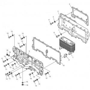 Масляный радиатор газового двигателя GV222TI