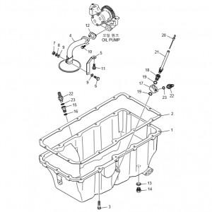Картер двигателя газового двигателя GV158TI