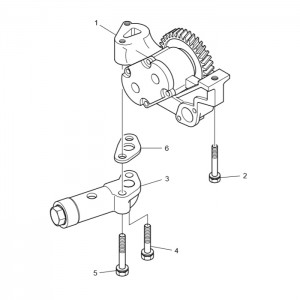 Масляный насос газового двигателя GV180TI