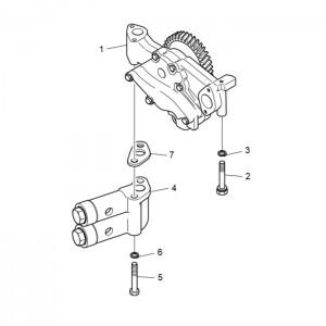 Масляный насос газового двигателя GV222TI