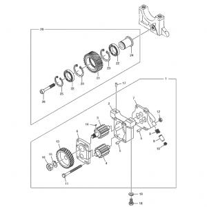 Масляный насос газового двигателя GE12TI