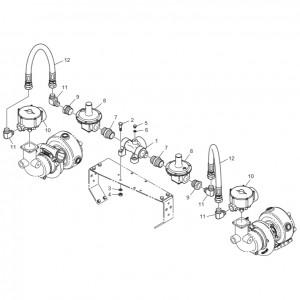 Регулятор давления газового двигателя GV180TI