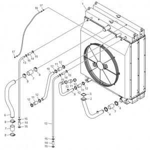 Радиатор системы охлаждения газового двигателя GV180TI