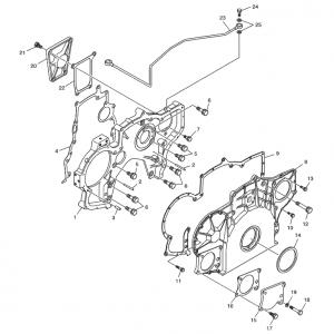 Шестерни синхронизации газового двигателя GE12TI