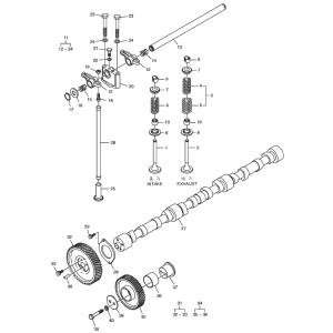 Распределительный вал газового двигателя GE12TI